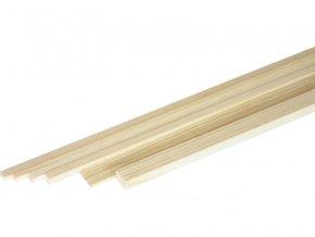 Broušený smrkový nosník 5x5mm (1m)