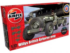Classic Kit military Willys Jeep, Trailer & 6PDR Gun 1:72