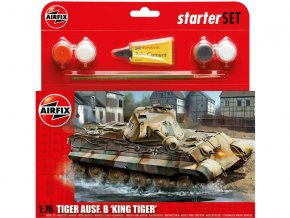Starter Set tank King Tiger Tank 1:76