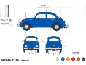 Starter Set auto VW Beetle 1:32
