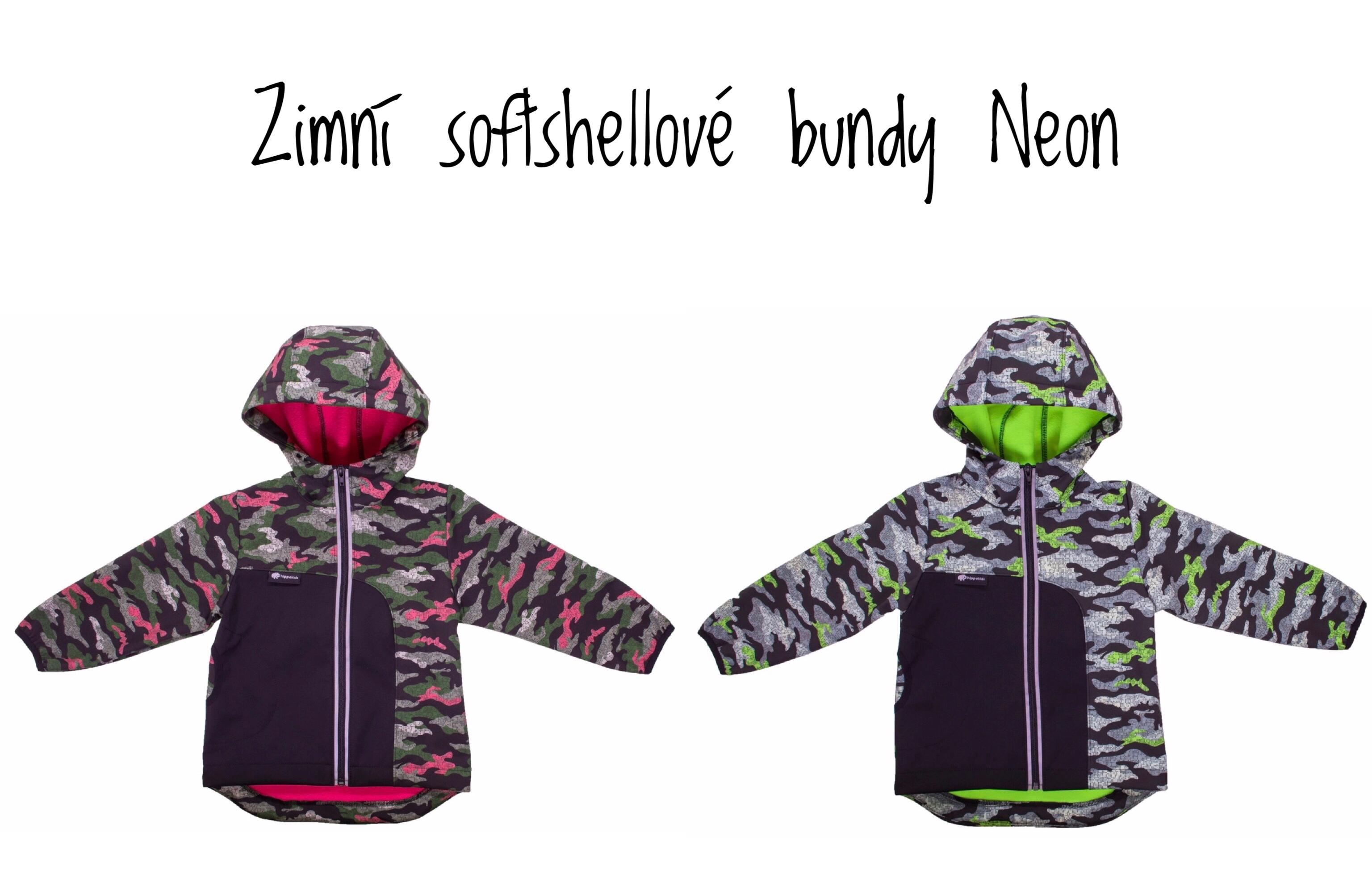 Zimní softshellové bundy Neon
