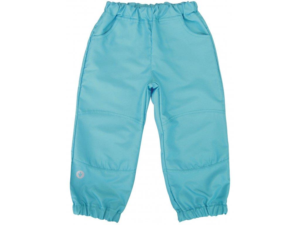 d0918f7eed3 Dětské šustákové kalhoty tyrkysové