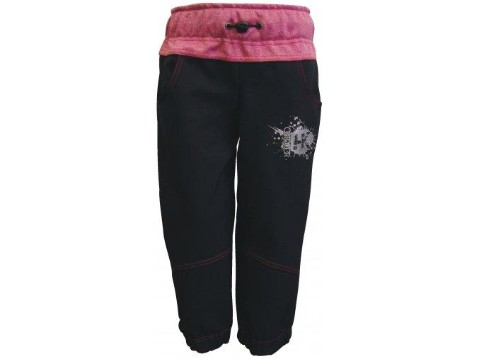 Zimní Softshellové kalhoty Silver růžové