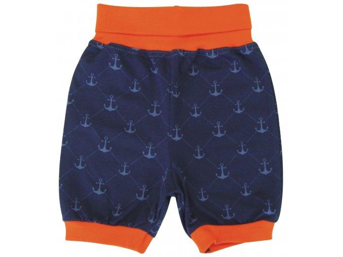 Kojenecké kraťasy pro miminka Námořník Modré