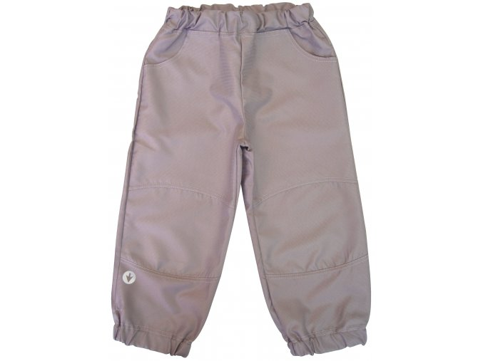 Dětské šustákové kalhoty šedé