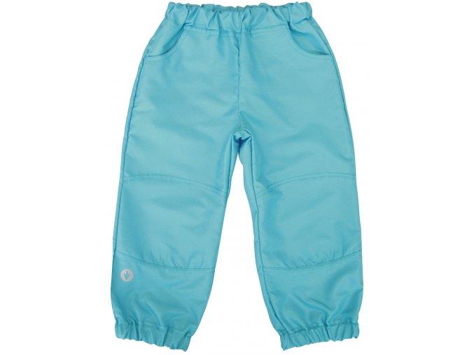 Dětské šustákové kalhoty tyrkysové