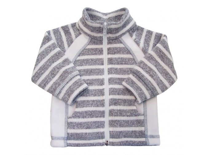 Kojenecký kabátek Stripe šedá