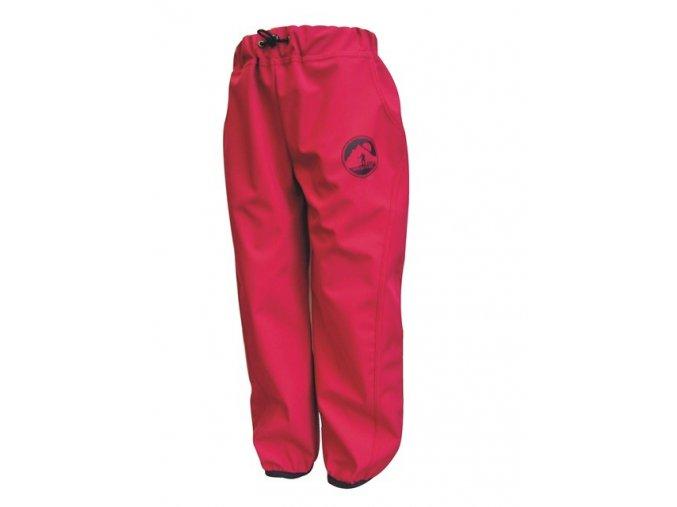 Dětské tenké Softshellové kalhoty Adventure růžové