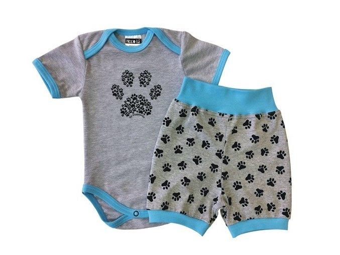 Letní kojenecký set pro miminka Tlapka Tyrkys