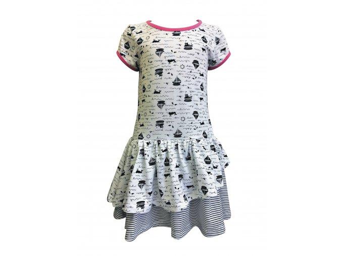 Dívčí šaty Plachetnička bílá