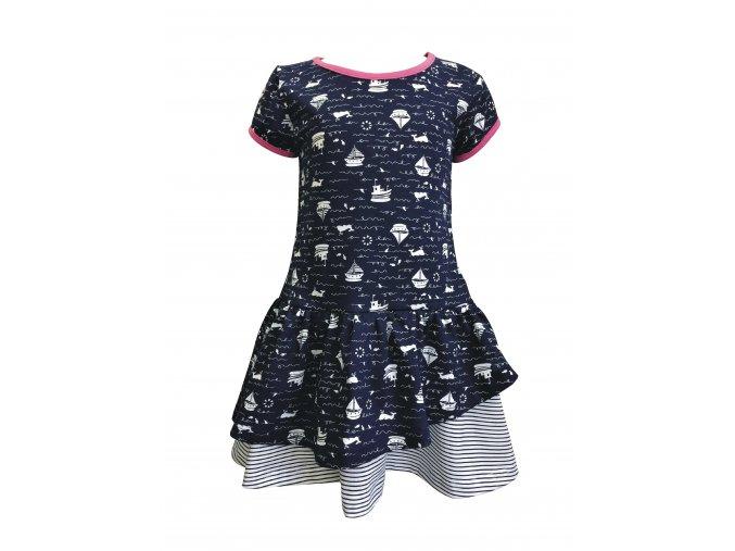Dívčí šaty Plachetnička modrá