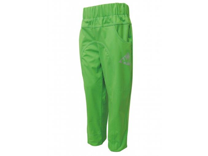Dětské Tenké Softshellové kalhoty zelené