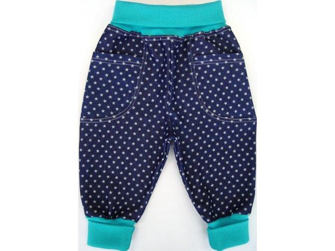 Polodupačky z rifloviny Jeans Star Tyrkys
