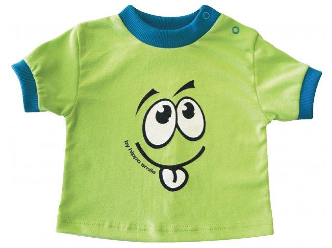 Dětské triko Smile zelené