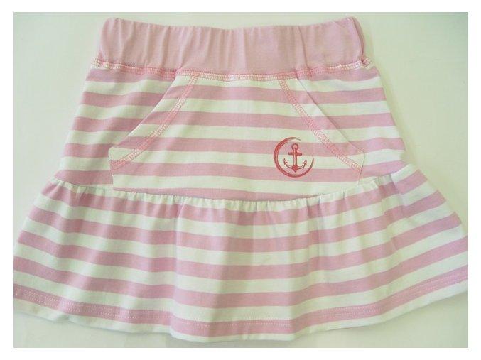 Dívčí sukně Navy růžová