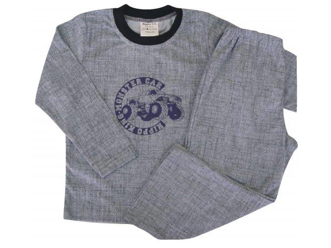 Dětské pyžamo Monster car šedé