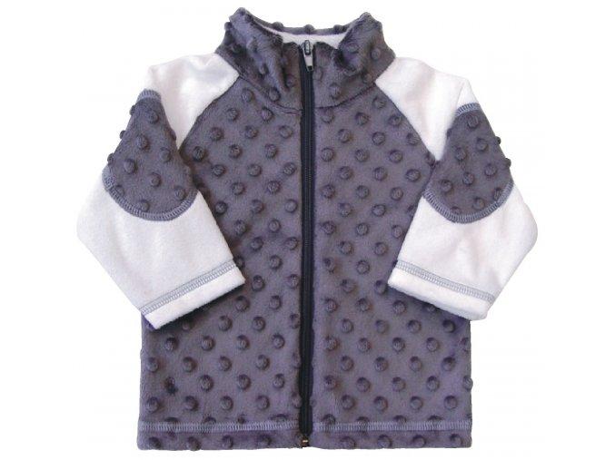 Dětský kabátek Bubble šedá