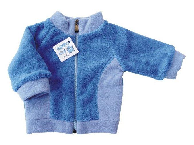 Kojenecká mikina Teddy modrá stojáček