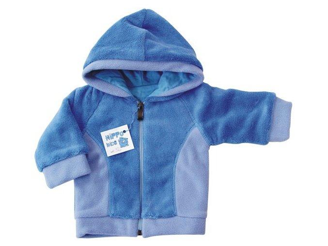 Kojenecká mikina Teddy modrá kapucka