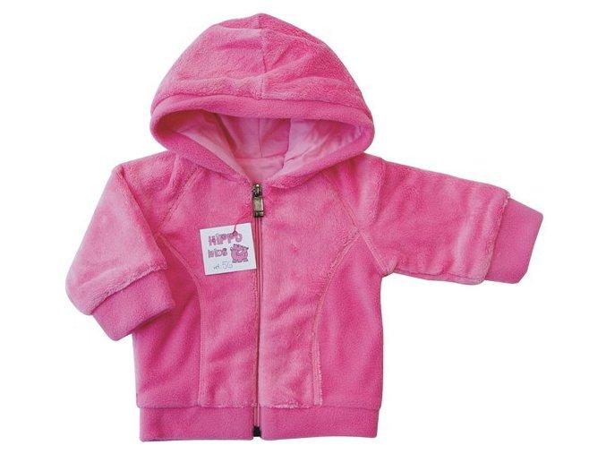 Kojenecká mikina Teddy růžová kapucka