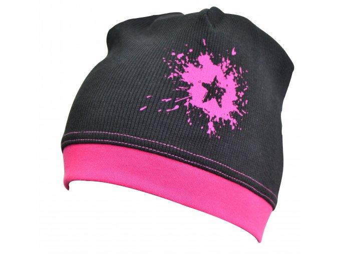 dětská čepice Galaxie pink