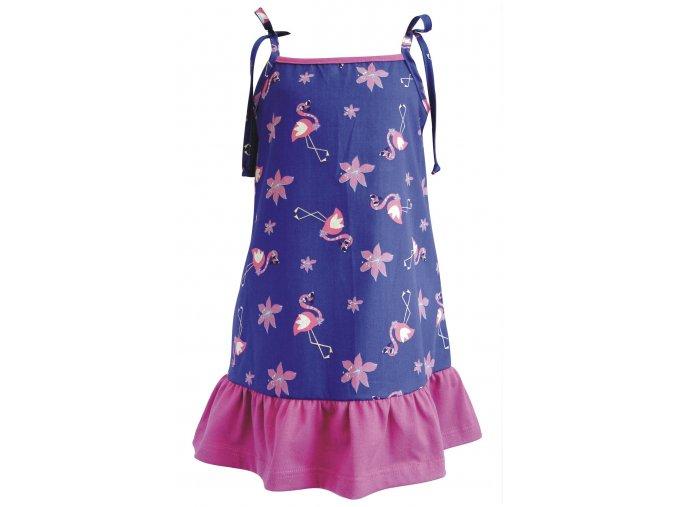 Dívčí šaty Plameňák ostružina