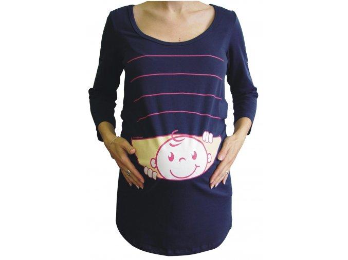 Těhotenské triko BABY modré