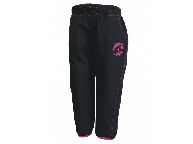 Dětské tenké Softshellové kalhoty Adventure pink