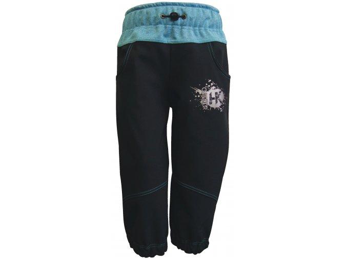 Zimní Softshellové kalhoty Silver tyrkys
