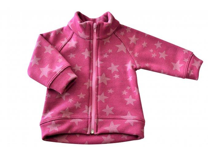 Kojenecký kabátek Star staro-růžová