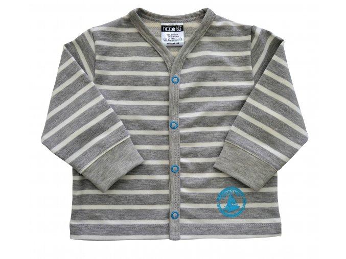Kojenecký kabátek Stripe tyrkys