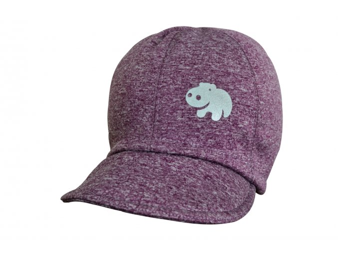 soft čepice melír lila hippo