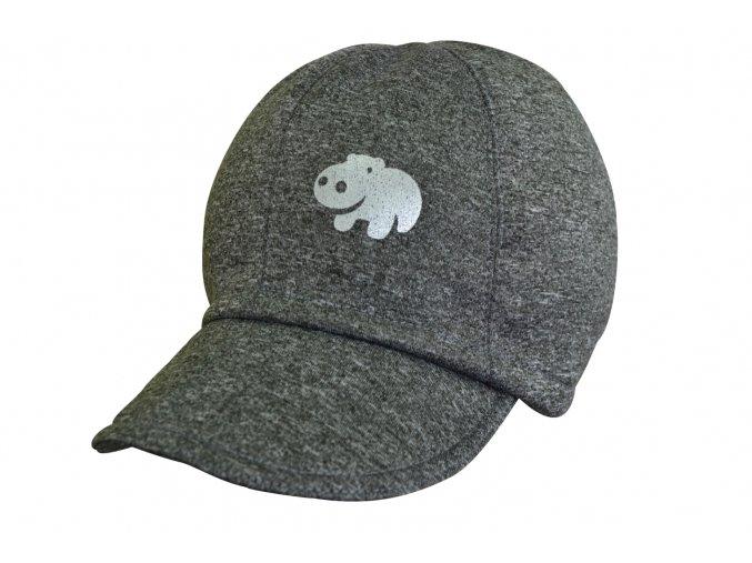 soft čepice melír šedá hippo