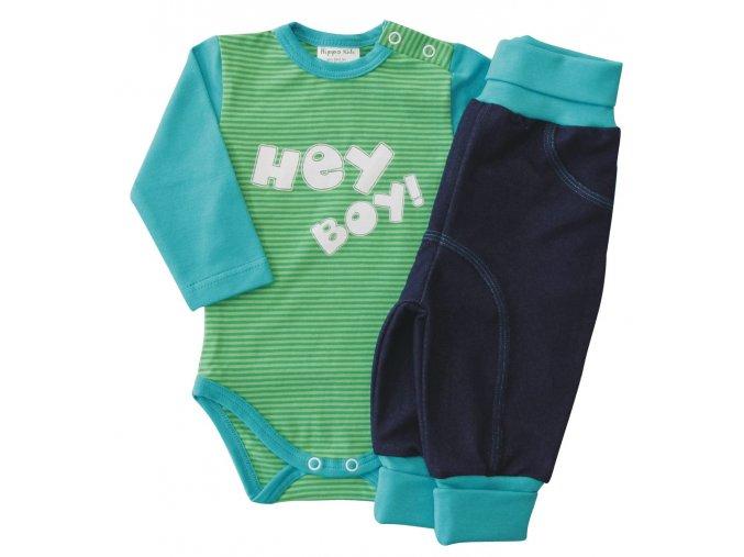 Kojenecká chlapecká souprava HEY zelená