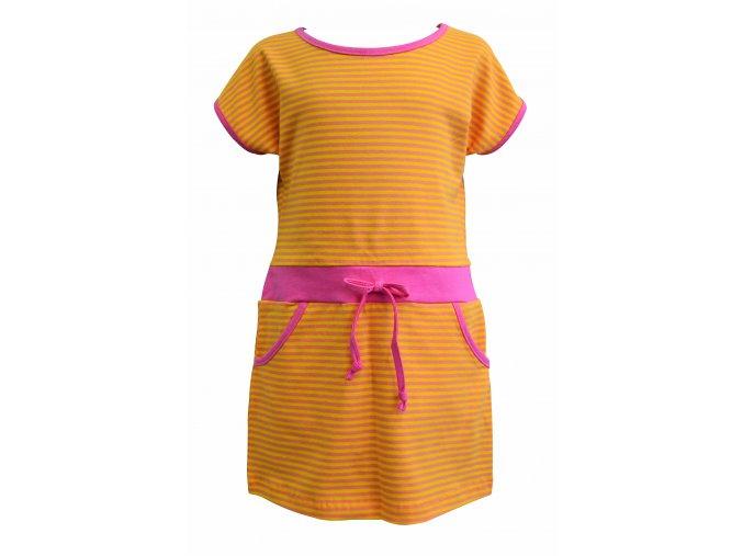 dívčí šaty Stripe oranžová
