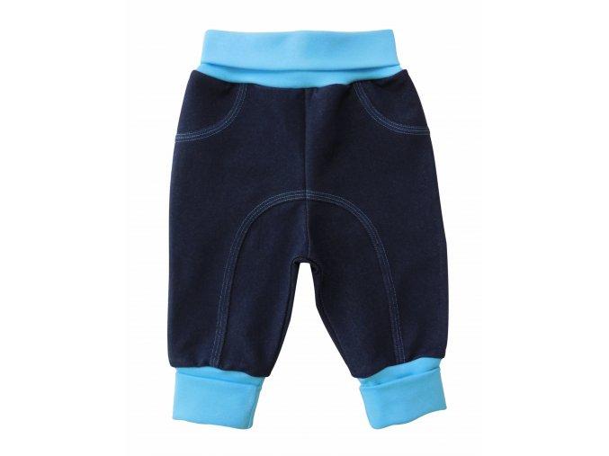 kojenecké tepláčky jeans tyrkysové