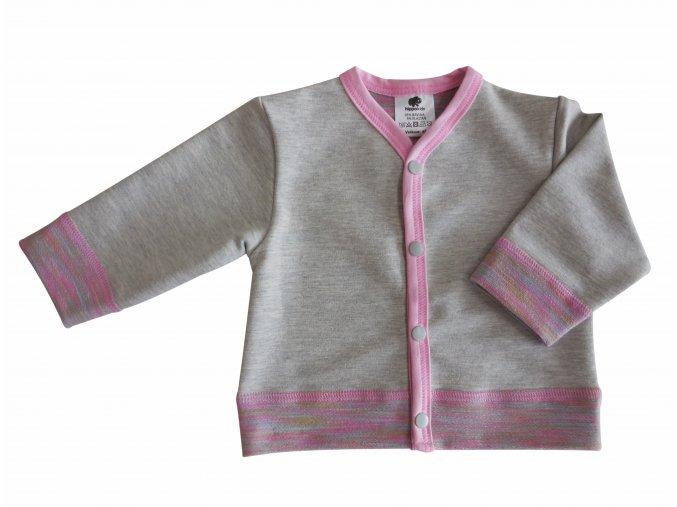 kojenecký kabátek barevný melír