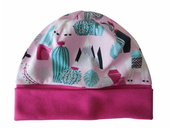 čepice Lama růžová