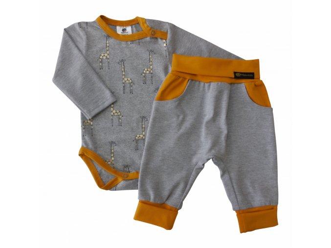 Oblečení pro mimika, kojenecké oblečení, kojenecká souprava, Hippokids Žirafa Gold