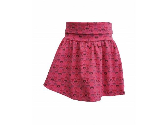 Oblečení pro děti, dívčí sukně Tulipán, červená Hippokids