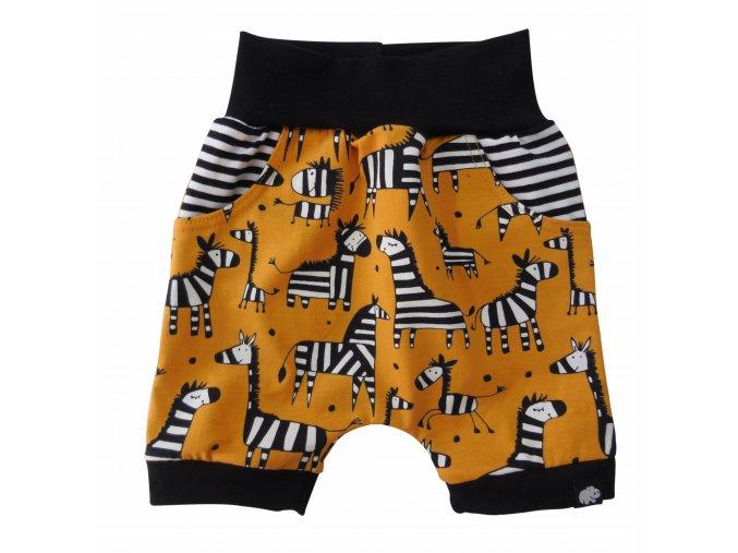 Kojenecké kraťasy Hippokids Zebra, oblečení pro miminka, kraťásky Orange