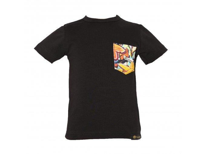 Oblečení pro děti a miminka, dětské a kojenecké tričko Grafitty Black