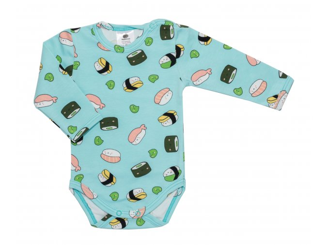 Kojenecké bodyčko pro miminka, kojenecké body Sushi Modré