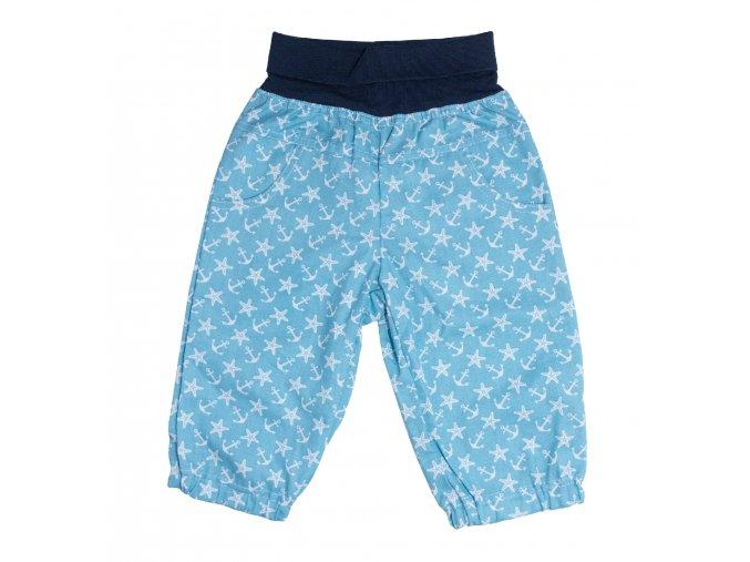 Nová kolekce oblečení pro miminka Hvězdice modrá. Polodupačky, kojenecká souprava, kojenecké body, kojenecké kraťásky, kojenecké tepláčky z plátna s motivem kotev a hvězd. Modro bílé plátěné tepláčky pro miminka Hvězdice.
