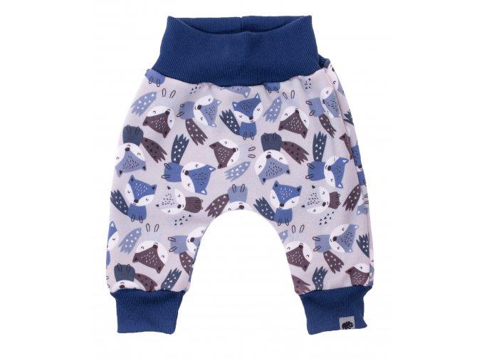 Zateplené polodupačky Fox grey. Zateplené kojenecké a dětské tepláčky zateplené chloupkem. Oblečení pro miminka, kojenecké soupravy, body, tepláčky, bundy, polodupačky s motivem zvířátek. Vyrobeno v Česku.