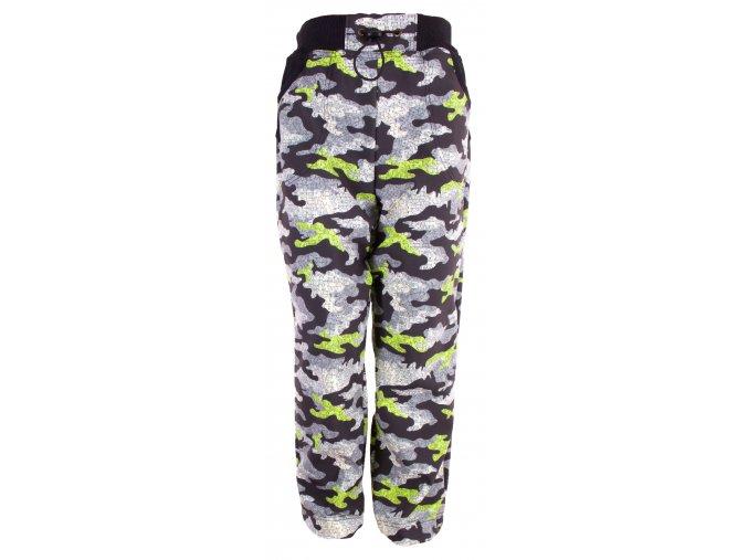 Zimní softshellové kalhoty Maskáč zelená. Zateplené kojenecké a dětská kalhoty zateplené fleesem. Oblečení pro miminka, kojenecké soupravy, body, tepláčky, bunda a kalhoty s maskáčovým vzorem. Vyrobeno v Česku.