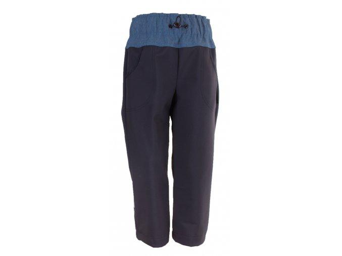 Zimní softshellové kalhoty Dark blue. Zateplené kojenecké a dětské kalhoty zateplené fleesem. Oblečení pro miminka, kojenecké soupravy, body, tepláčky, bunda a kalhoty. Vyrobeny v Česku.
