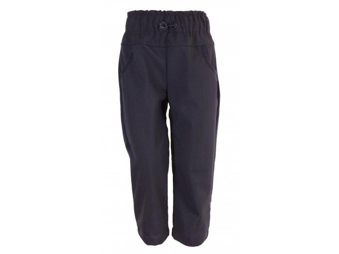 Zimní softshellové kalhoty Reflex easy černé. Zateplené kojenecké a dětské kalhoty zateplené fleesem. Oblečení pro miminka, kojenecké soupravy, body, tepláčky, bunda a kalhoty. Vyrobeny v Česku. Přední díl.