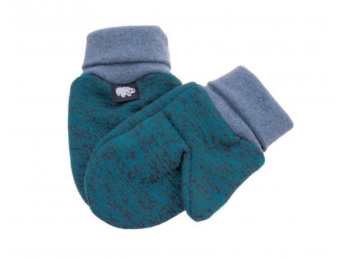 Kojenecké zateplené rukavičky Polar petrol.Oblečení pro miminka, kojenecké soupravy, body, tepláčky, bundy, polodupačky, čepice. Růžová čepice a nákrčník. Podzim zima.Vyrobeno v Česku z té nejkvalitnější bavlny.Detail