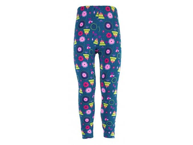 Dívčí legíny Hippokids Tulipán modrá. Kojenecké a dětské legny z bavlny. Oblečení pro miminka, kojenecké soupravy, body, tepláčky, bunda a kalhoty. Vyrobeny v Česku. Motiv květy, kytky, květiny.